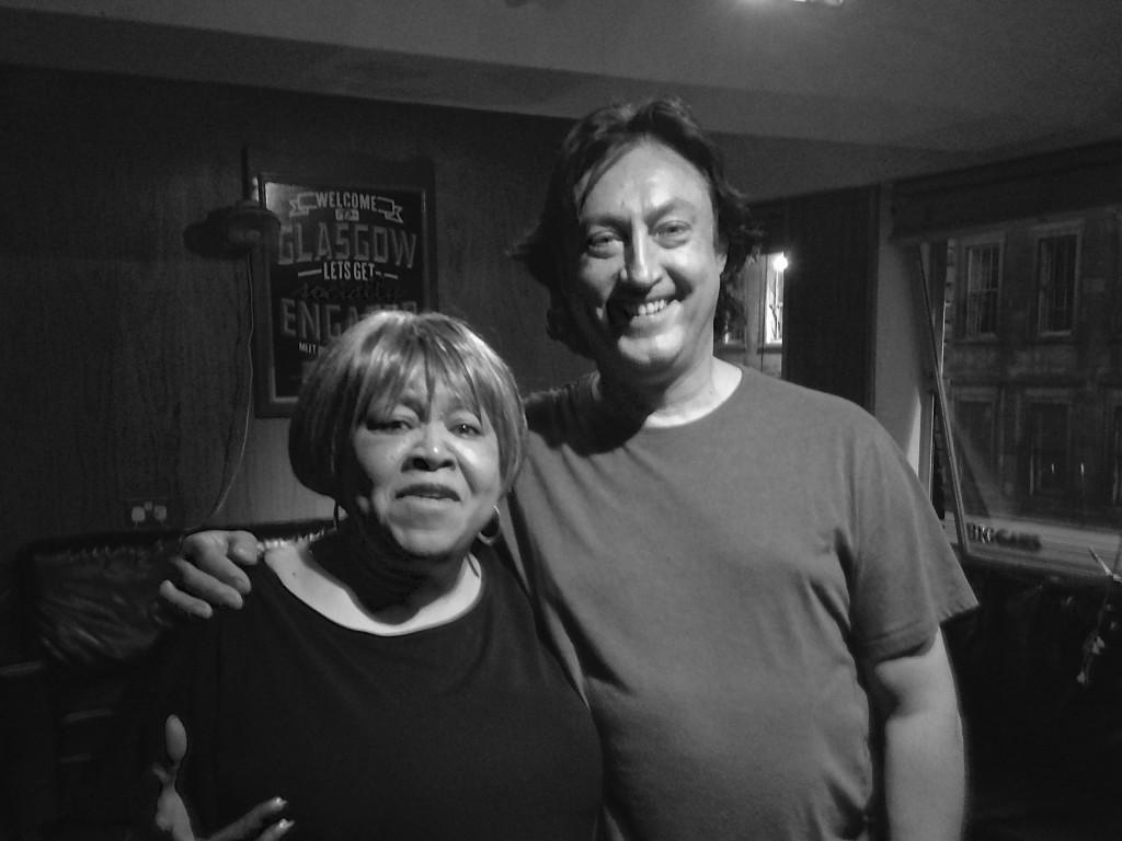 Alan Thomson With Mavis Staples