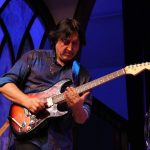 Alan Thomson Playing Slide With Martin Barre In The USA